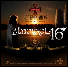 Poster of the official meeting (annual) of the Templarias (the Templar), held on the banks of the Nabão, near the castle of Almourol (Vila Nova da Barquinha, Portugal), from 16 to 21 June 2016.
