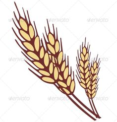Wheat ear. Simple shapes vector illustration