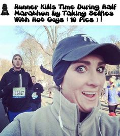 Runner Kills Time During Half Marathon by Taking Selfies With Hot Guys (10 Pics)