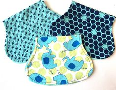Burp Cloths  Boy Burp Cloth Set Baby shower by AnimalCrazeKids