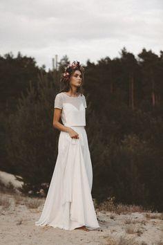 Classy Wedding Dress, Two Piece Wedding Dress, Top Wedding Dresses, Boho Wedding, Bridal Dresses, Wedding Gowns, Bridesmaid Dresses, Classy And Fab, Bridal Tops