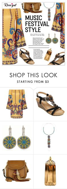 """""""RoseGal #29"""" by shambala-379 ❤ liked on Polyvore featuring Chloé, Thierry Mugler and festivalfashion"""