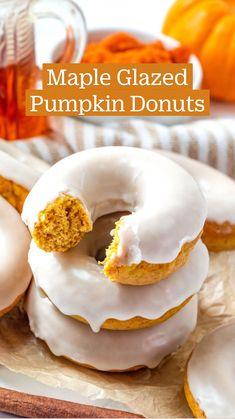 Just Desserts, Delicious Desserts, Dessert Recipes, Yummy Food, Pumpkin Recipes, Fall Recipes, Sweet Recipes, Donut Recipes, Baking Recipes