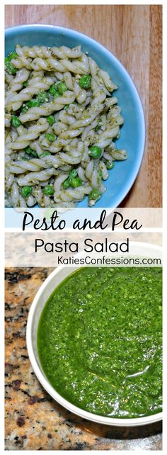 Five ingredient pasta salad that comes together in minutes - pasta, pesto, lemon juice, mayo and peas. Impress everyone at your next summer barbecue!