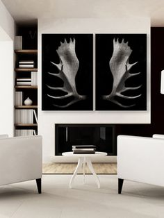 Antlers (Set of 2) from Best Sellers: Art for Dapper Dudes on Gilt