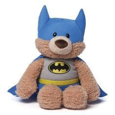 Gund Superhero: DC Comics Malone as BChildren just love Batman and they love teddys, put them together and you have the perfect toy. Malone the bear is dressed up as Batman in an accurate costume .  Appropriate for ages one and up. Batman Stuffed Animal Plush. http://awsomegadgetsandtoysforgirlsandboys.com/gund-superhero/ Gund Superhero: DC Comics Malone as Batman Stuffed Animal Plush