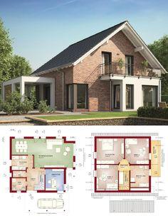 Einfamilienhaus Architektur Modern Mit Satteldach, Erker Anbau U0026  Zwerchgiebel   Haus Bauen Ideen Grundriss Massivhaus Colmar Von HELMA Eu2026 |  H O U S E S ...