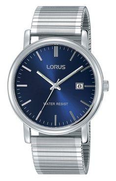 Lorus Herenhorloge Zilverkleurig met rekband RG841CX8. Mooi horloge met een zilverkleurige rekband en een blauwe wijzerplaat. het horloge heeft Hardlexglas en weegt 62 gram. Dit model is spatwaterdicht en u heeft twee jaar garantie op het uurwerk.