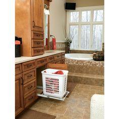 smart bathroom hamper solution!