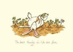 The World of Cute Love: Sweet Illustrations by Anita Jeram. Art And Illustration, Anita Jeram, Rabbit Art, Bunny Art, Whimsical Art, Cute Drawings, Cute Art, Illustrators, Character Design
