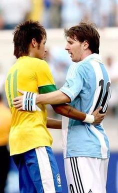 Neymar Jr & Lionel Messi, both Skillfull Player and Rissing Star