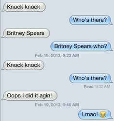 Britney Spears knock knock joke