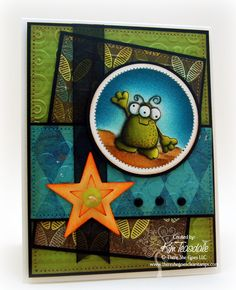 Love the coloring and the colors!  Great card for boys created by Kim Teasdale.