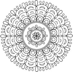 Mandala 676 Creative Haven Spark Mandalas Coloring Book Dover Publications