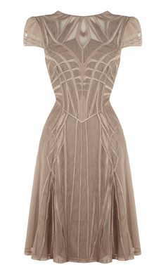 GEOMETRIC EMBROIDERY DRESS - Karen Millen