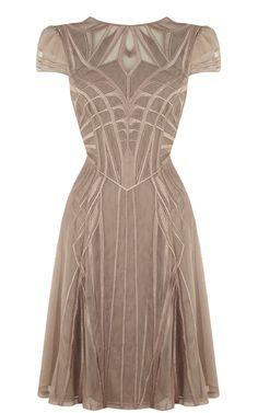 GEOMETRIC EMBROIDERY DRESS - Karen Millen