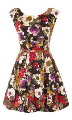 Louche Julita III Floral Print Dress discovered on Fantasy Shopper Pretty Outfits, Pretty Dresses, Cute Outfits, Girl Outfits, Dress Backs, Dress Up, Bon Look, Fashion Beauty, Fashion Looks
