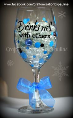 WINE GLASS GIVEAWAY!!!  Come and visit www.facebook.com/craftomizationbypauline and take a guess.  Game ends on or before November 30th 2014!!  Guess how many marbles.