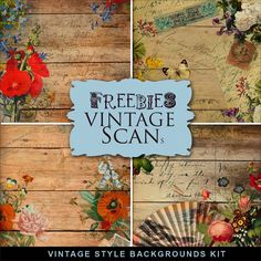 Freebies Vintage Style Backgrounds Kit