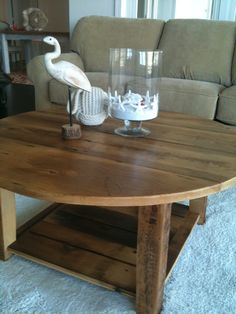 Custom coffee table made from reclaimed barn wood. Just let me know the size and shape! Order it from Reimaginedstyle