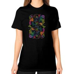 Colored geometric star map coordinate zodiac Unisex T-Shirt (on woman)