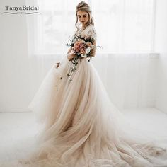 The kind of beauty that sweeps you off your feet ✨ Obsessed with this dreamy by Wedding Dress Inspo 💍✨ Tulle Skirt Wedding Dress, Plus Wedding Dresses, Western Wedding Dresses, Bohemian Wedding Dresses, Plus Size Wedding, Cheap Wedding Dress, Bridal Dresses, Wedding Gowns, Tulle Skirts