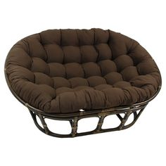Blazing Needles by Solid Microsuede Double Papasan Cushion- Steel Grey at Lowe's. Add a touch of style and comfort to your indoor furnishings with this by microsuede double papasan cushion. This cushion features a Double Papasan Chair, Papasan Cushion, Swivel Barrel Chair, Chair Upholstery, Chair Fabric, Chair Pads, Cushion Fabric, Rattan, Wicker