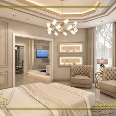 غرفة نوم مودرن  جمعت بين البساطة والجمال في كل تفاصيل تصميمها  بداية من الالوان الي الاكسسوارات و وحدات الأضاءة المميزة  #تصميم_غرف_نوم #تصميم_داخلي #ديكورات_مودرن #السعودية #المنطقة_الشرقية #بازار_للتصميم_الداخلى #interiordesign #decoration #design #decor #luxurydesign #ksa House Plans Mansion, Family House Plans, Home Room Design, Home Interior Design, House Design, Entrance Hall Decor, Luxury Homes Interior, Home Office Furniture, House Rooms