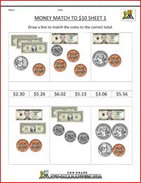Great money worksheet for graders. Teaching Social Studies, Teaching Math, Teaching Ideas, Money Worksheets, School Days, School Stuff, Money Problems, Learn To Count, 1 Gif