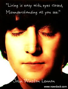 I wonder what John meant when he sang this line (from Strawberry Fields)? My feeling is that he was talking about all the 'unconscious' people walking around, oblivious to the deeper things going on in life. http://nowclock.com