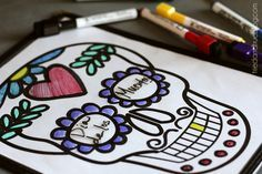 Here's a super quick and easy project to entertain kiddos and celebrate Dia de los Muertos. You can just print off the Calavera Printable (Heart & Flower) and have them color it or slide it into a menu holder (I love restaurant supply stores!) for days of coloring fun. There are two different designs, one... Read More »