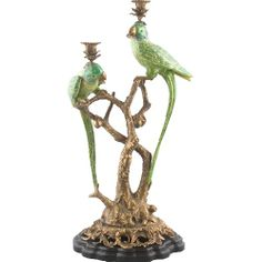 Parrot Twin Candle Holder