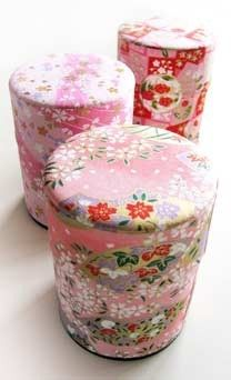 Washi tea tins