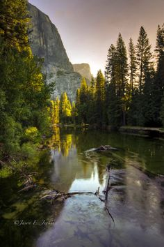 Yosemite National Park in the morning. The Merced River. #endorsed Photo by Jason Jenkins