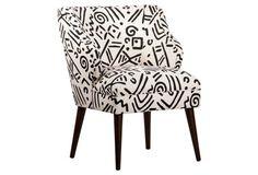 Kira Chair, White/Black