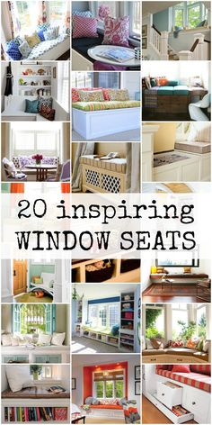 Create a cozy, welcoming space with a window seat that can be used for seating and storage. These inspiring spaces will get you started!