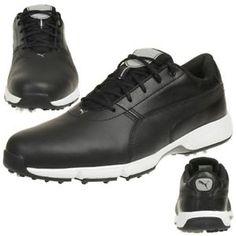 56b3c8a6ae6 a puma ignite drive hombre zapatos de golf golf cuero 189166 05 negro
