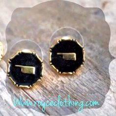 Black & gold Oklahoma earrings a few in stock $12 www.royceclothing.com & free shipping