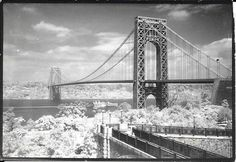 A series of photos showcasing New York City over 70 years ago. Nyc Pics, Washington Heights, City That Never Sleeps, George Washington Bridge, Concrete Jungle, Tower Bridge, Beautiful World, Places To See, Vintage Photos