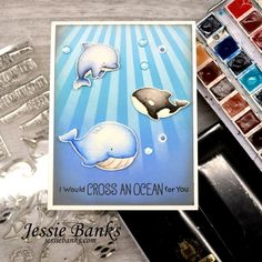 My Favorite Things – Jessie Banks Whimsy Stamps, Mft Stamps, Under The Sea Animals, Wave Stencil, Beach Cards, Little Fish, Ocean Themes, Animal Cards, Simon Says Stamp