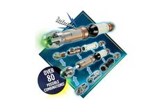 Doctor Who: Customized Sonic Screwdriver Interchangeable parts let you switch lights, sound effects and functions, including the Eleventh Doctor's extendable claw. More than 80 possible combinations!