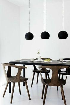 esszimmer modern skandinavischer stil mit weißen stühlen und, Esstisch ideennn