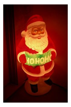 Light-up plastic Santa Clause Whimsical Christmas, Retro Christmas, Vintage Holiday, Little Christmas, Holiday Fun, What Is Christmas, Christmas Past, All Things Christmas, Decorating With Christmas Lights