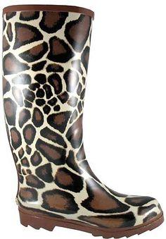 Womens Giraffe Rain Boots