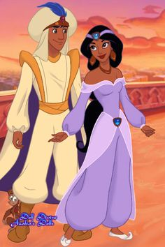 Aladdin and Jasmine by ~ Princess Jasmine dress up game<br> Disney Nerd, Disney Fan Art, Cute Disney, Disney Movies, Disney Characters, Disney Princess Pictures, Walt Disney Pictures, Disney Jasmine, Disney Magic