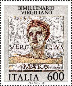 1981 - Bimillenario della morte di Publio Virgilio Marone -  Ritratto di Virgilio