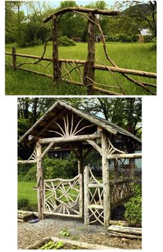 hoppy quick catskills woodworking arbour fence natural wood