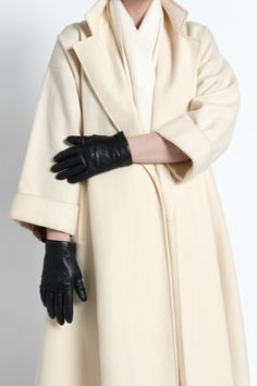 Vintage 80s Classic Black Leather Driving Gloves