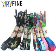 YJRVFINE 10 Pair Flat Rainbow Gradient Shoelaces Flag Shoe Laces Zebra Stripes Shoes Lace Camouflage Style Shoestring Rope