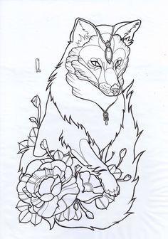 Tattoos on Pinterest | Fox Tattoos, Geometric Bear and Arm Tattoo